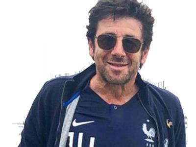 Sticker other patrick bruel lunettes soleil edf equipe de france maillot bleu football