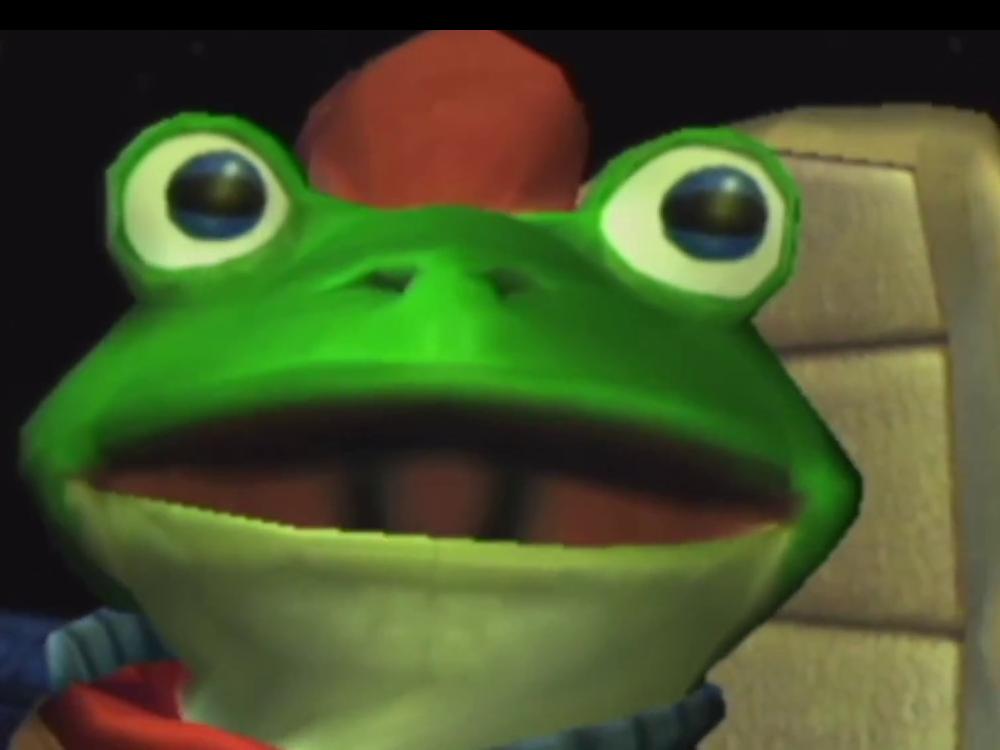 sticker starfox slippy toad adventures regard surpris etonne ah bon grands yeux siege fauteuil crapaud grenouille - Fauteuil Grenouille