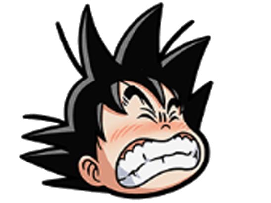 Sticker kikoojap goku sourire dragon ball