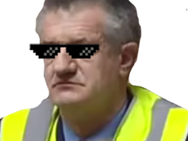 Sticker politic jean lassalle gilet jaune contestation like a boss sunglasses lunettes de soleil politique president presidentielle