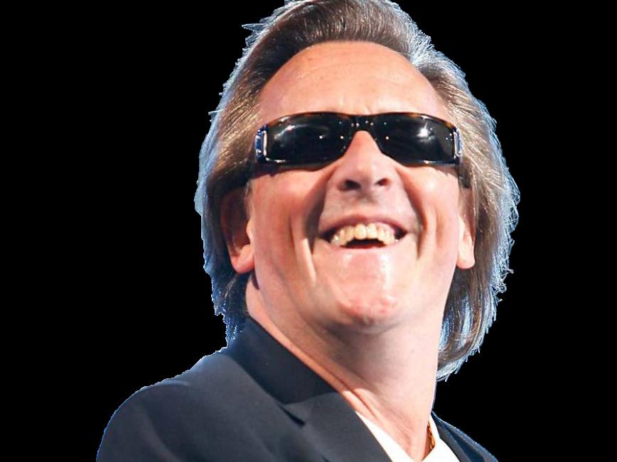 Sticker other gilbert montagne chanteur aveugle lunettes sourire
