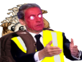 Sticker risitas xavier gilet jaune gj yorarien combo explosion sarkozy meme