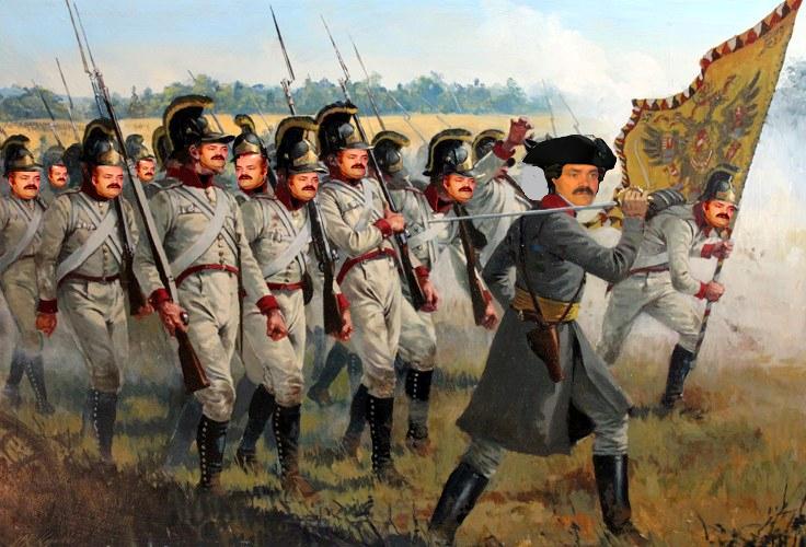 Sticker risitas autriche napoleon soldat uniforme troupe