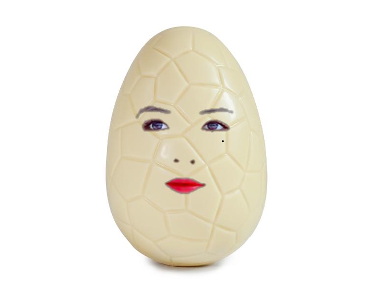 Sticker kikoojap kim hyuna kpop big easter egg oeuf paques blanc white chocolat