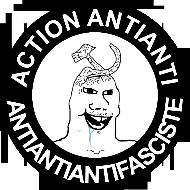 Sticker de MemesRoyalistes sur politic action anti antifa