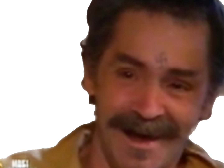Sticker charles manson risitas fou rire moustache