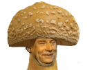 Sticker issou jesus quintero marlou champignon rire moque mushroom
