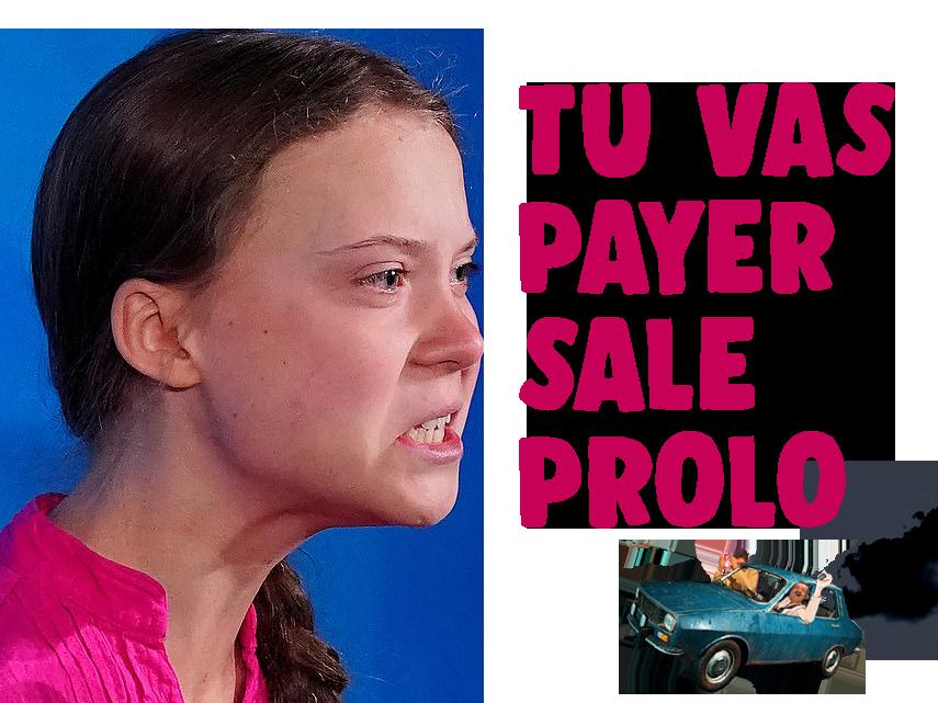 Sticker other greta thunberg rage prolo impot