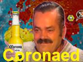 Sticker risitas corona coronaed coronavirus virus malade biere biere issou
