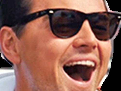 Sticker other zoom leonardo di caprio dicaprio rire jpp humilier humiliation lunettes de soleil sunglasses hurle ayaaa ent 4cdw jfl