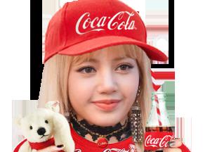 Sticker other lisa blackpink kpop coca cola peluche casquette drink bouteille