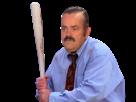Sticker risitas batte seinfeld chemise cravate bat baston bataille enerve baseball vener mains colere frappe