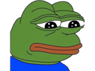 Sticker other pepe feelsbadman forsen sad depression triste grenouille 4chan deepweb edgy abyn