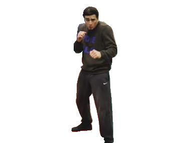 Sticker jvc fic celestin perso ibra ibratv bg dobre russe combat position boxe
