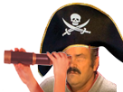 Sticker risitas risistas pirate vue