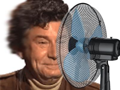 Sticker risitas ventilateur canicule jesus chaud ete sueur cheveux vent