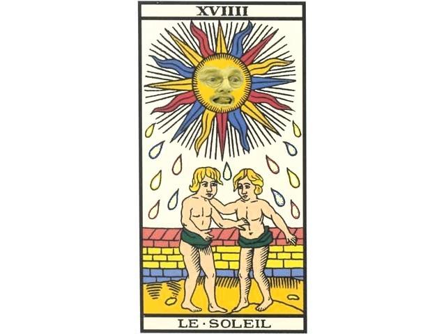 Sticker politic bendit tarot cohn pedo soleil