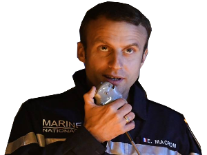 Sticker politic macron marine nationale
