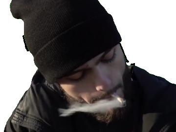 Sticker other pnl rappeur qlf igo paix sur toi fume cigarette dernier gramme