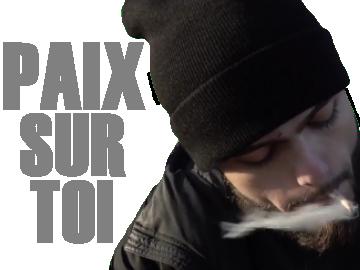 Sticker other pnl rappeur qlf igo paix sur toi fume cigarette dernier gramme pyj cancer
