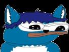 Sticker other apustaja fourrure bleu