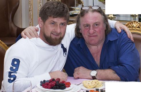 Sticker politic ramzan kadyrov depardieu