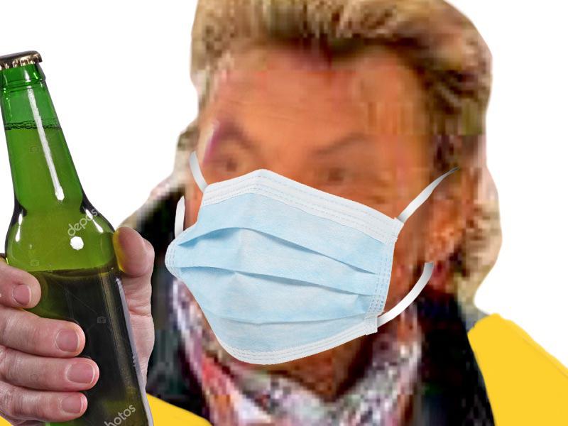 Sticker risitas masque djo biere gilet jaune