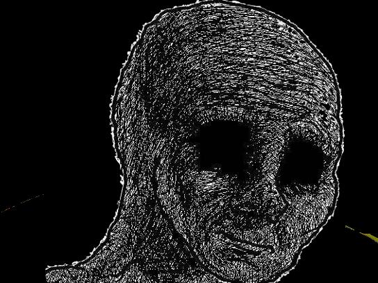 Sticker risitas dead mort wojak deprime deprimer depression vide neant 4chan chan yeux perdue briser ko reve