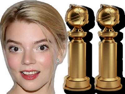 Sticker anya taylor joy golden globe trophee hollywood cinema 2021