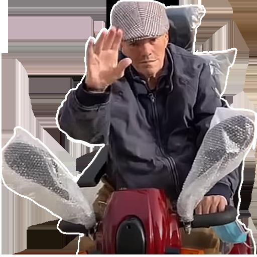 Sticker cobra salut risitas scooter