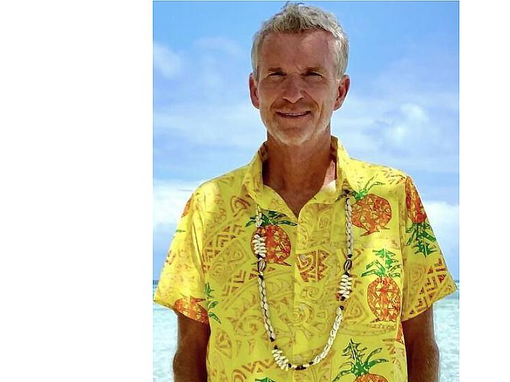 Sticker other denis brogniart koh lanta chemise hawaii