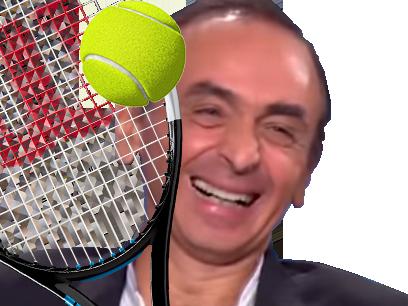 Sticker politic zemmour tennis balle rire figma