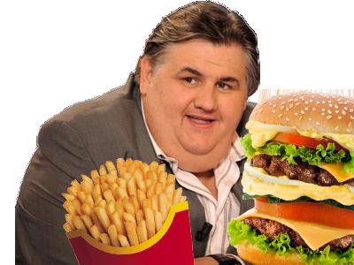 Sticker pierre menes burger bougeur frites frite gros