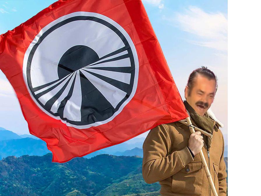 Sticker risitas pekin express m6u drapeau
