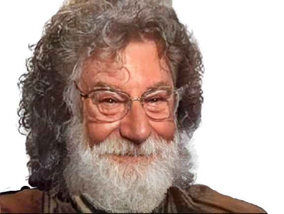 Sticker risitas jesus faceapp drole sourire lunettes cheveux boomer vieux rire lol mdr