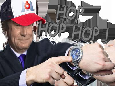 Sticker risitas m6u hop esclave patron montre heure temps costume chef boss casquette figma