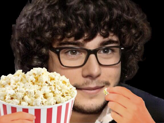 Sticker risitas jesus quintero jvc barbe classe chic serein tranquille etudiant lunettes jeune pop corn cinema