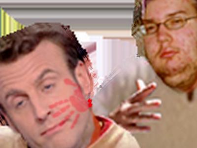 Sticker emmanuel macron chouffin nolife geek biere chouffe gifle claque tarte baffe calotte alcool marlou khey montjoie saint denis kaamelot alexandre astier metal metalleux hydromel