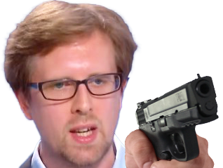 Sticker risitas philippe prigent arme flingue gun pistolet