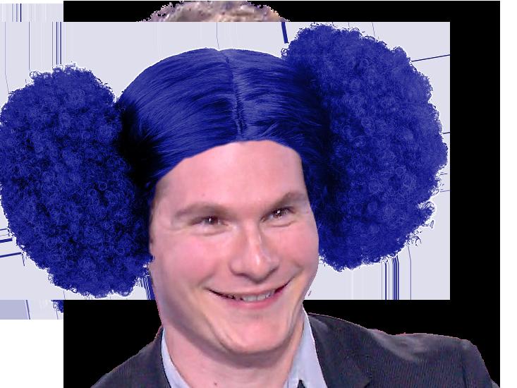 Sticker risitas john wolf jean loup bonnamy afro bleu hdp figma praud
