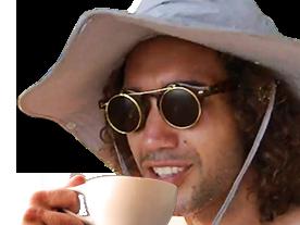 Sticker other laurent koh lanta lunettes chapeau tasse