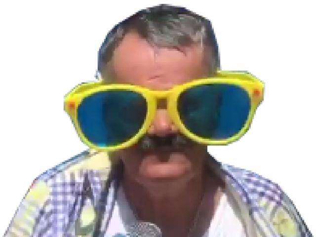 Sticker risilunette goudjaa risitas lunettes