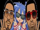 Sticker other konata pnl qlf rap manga anime lucky star ademo nos paix kikoojap