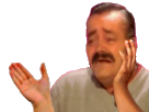 Sticker risitas applaudir pleurer cimer chef putain main vagamundo sans fond transparent bestreup reupload brup