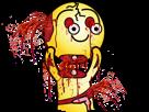 Sticker saumon gore trash