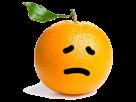Sticker other orange triste fruit