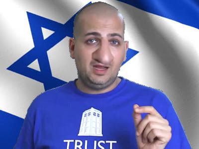 Sticker other e penser e penser nez gros israel drapeau