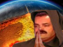 Sticker pretre volcan atome yellowstone risitas apocalypse fin monde