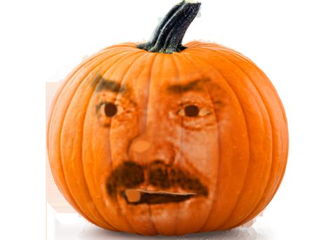 Sticker citrouille halloween risitas legume