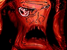 Sticker risitas femme horreur creepy monstre